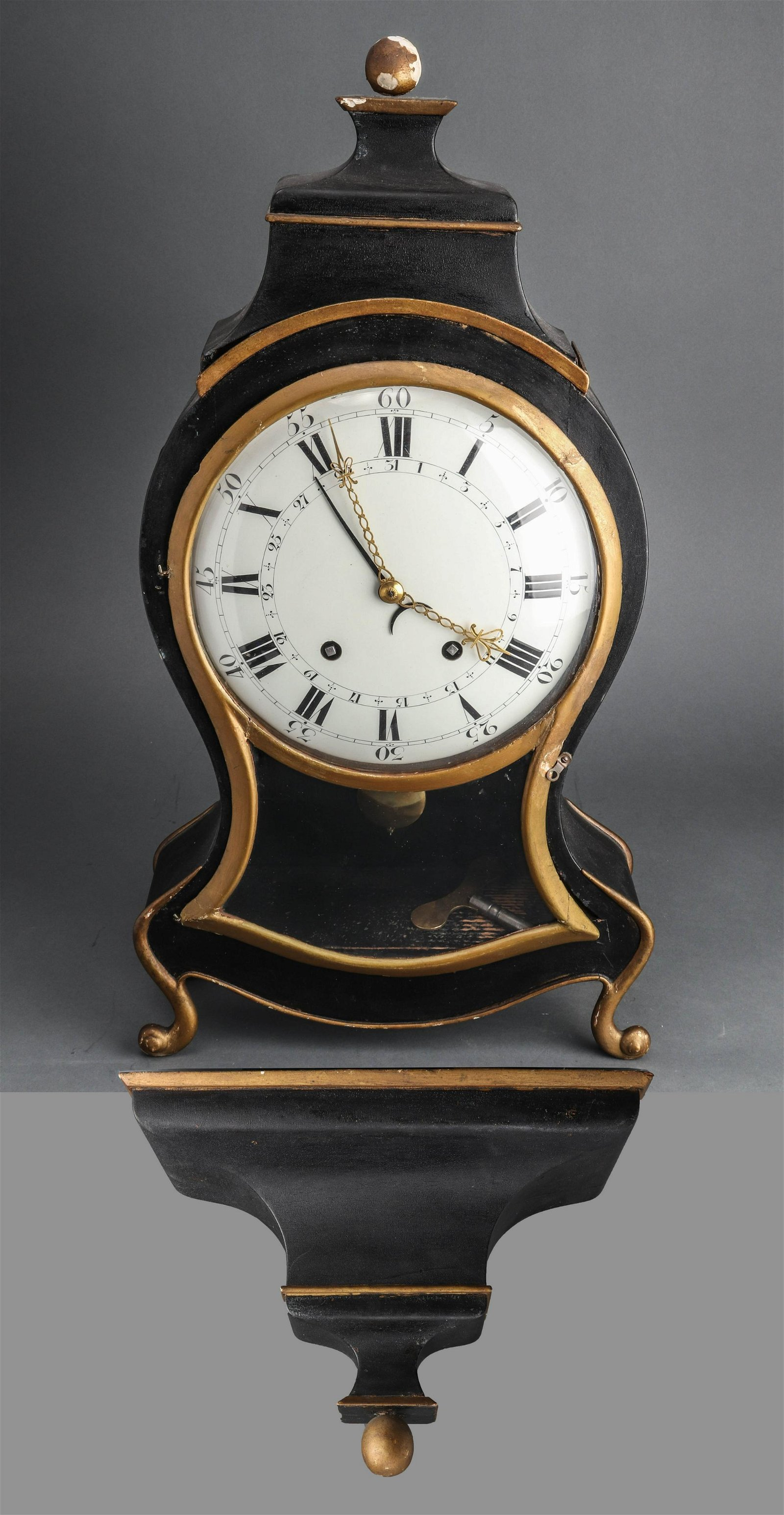 Swiss Neuchatel Bracket Clock, 19th C.