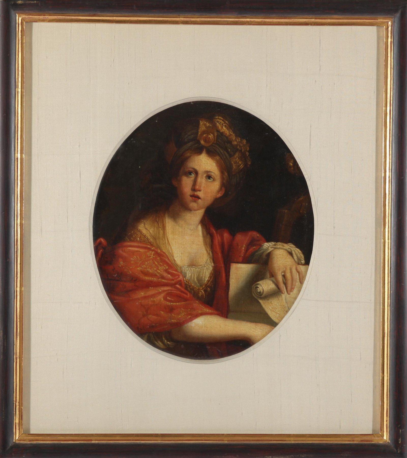After Domenichino Cumaean Sibyl Oil Painting, 18 C