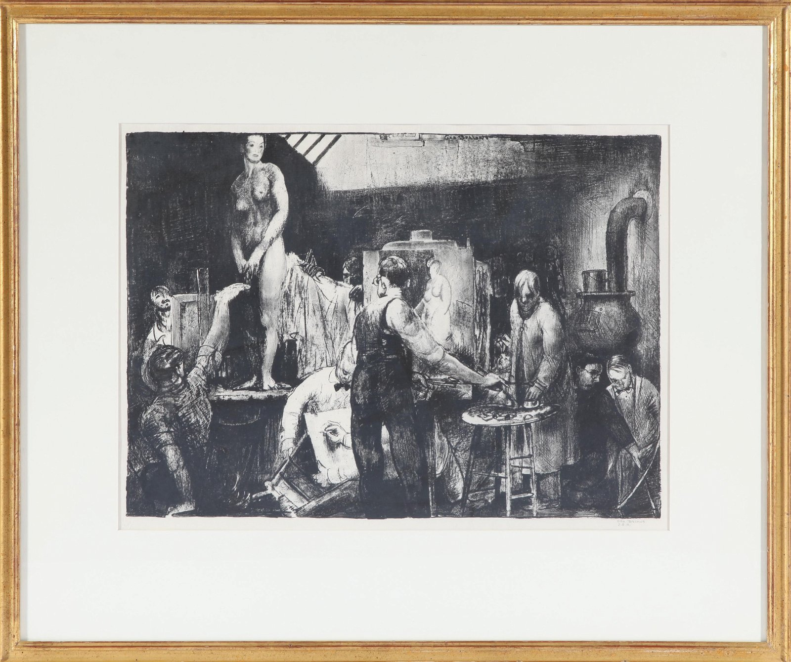"George Bellows ""The Life Class"" Lithograph"