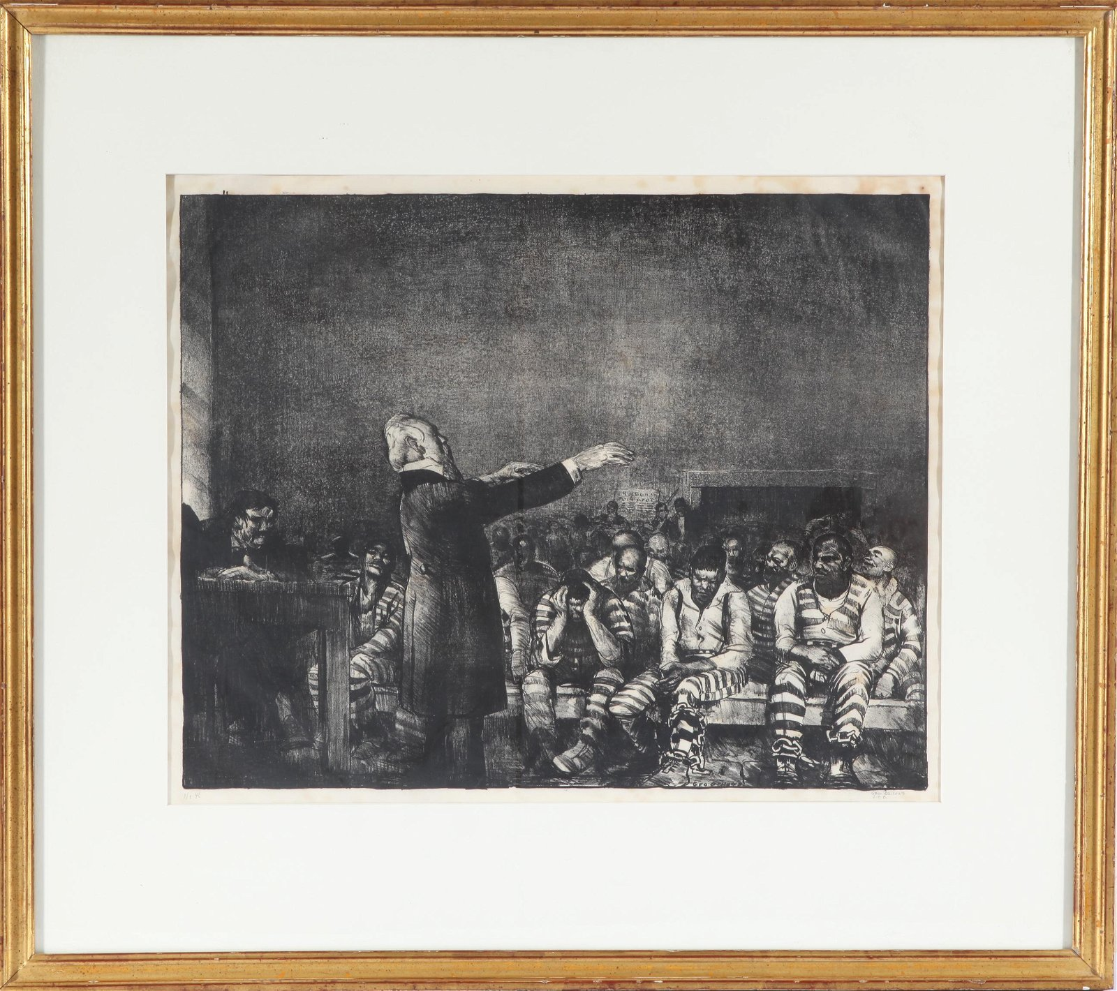 """George Bellows """"Benediction in Georgia"""" Lithograph"""