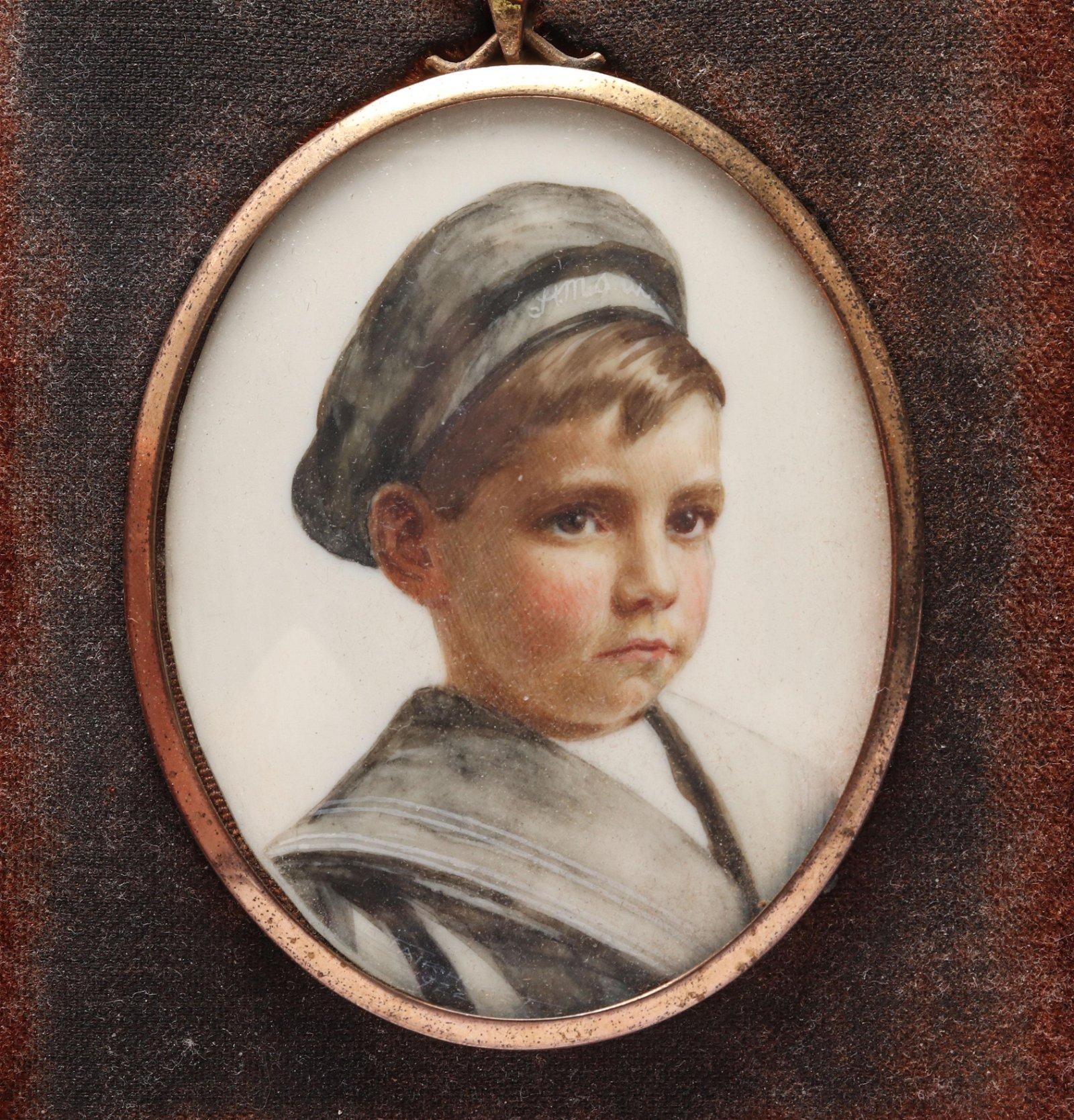 Enoch Fairhurst Portrait Miniature, 1922