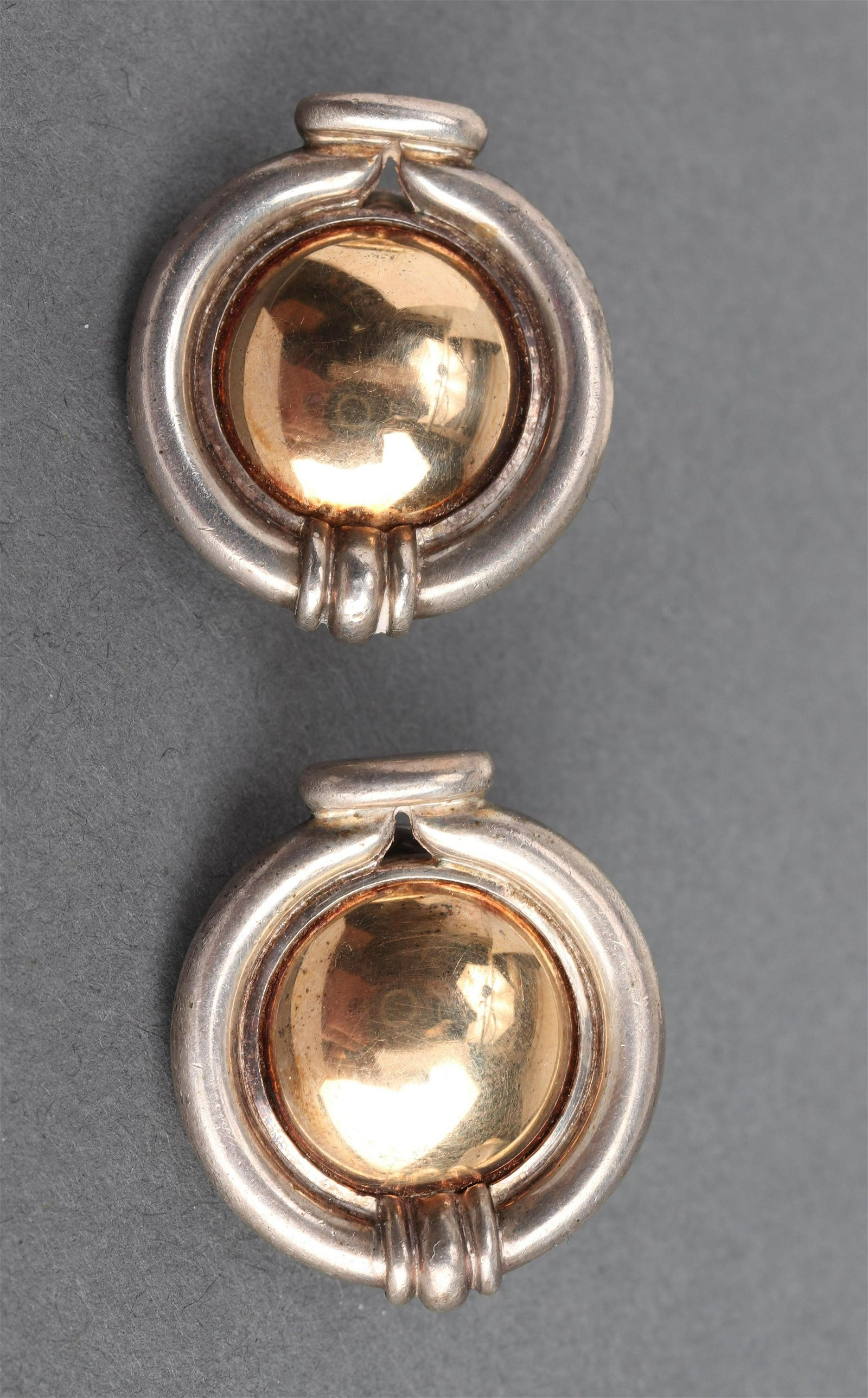 Christofle 18K Yellow Gold & Silver Earrings