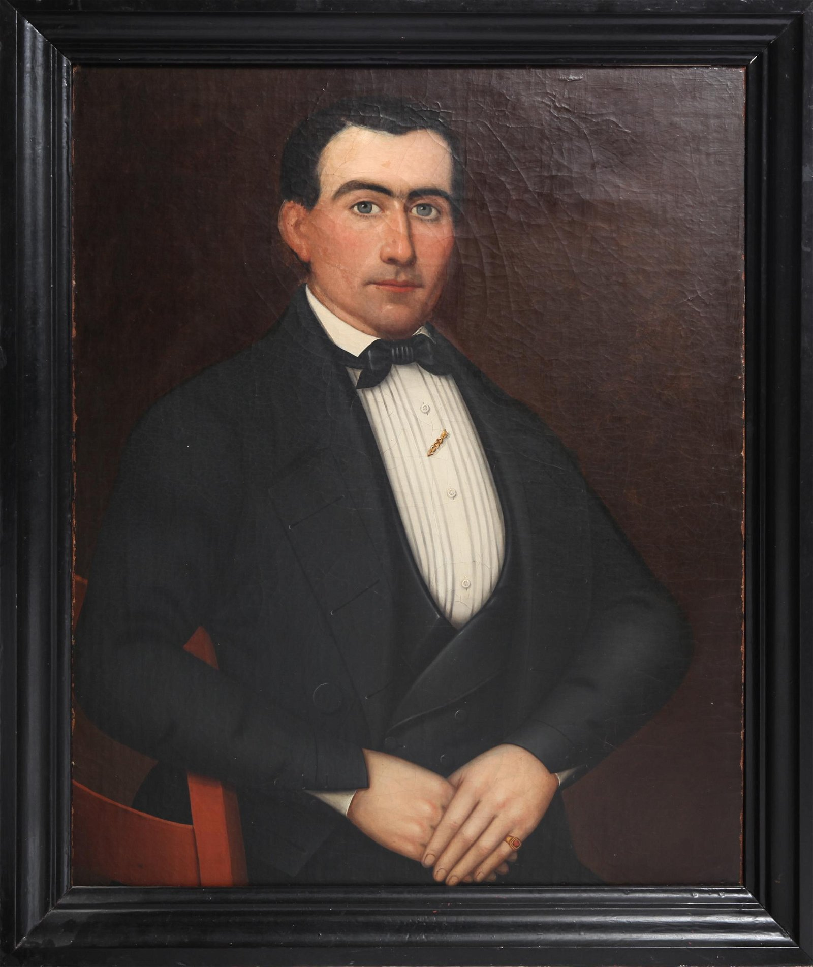 American School Portrait of a Gentleman, Oil