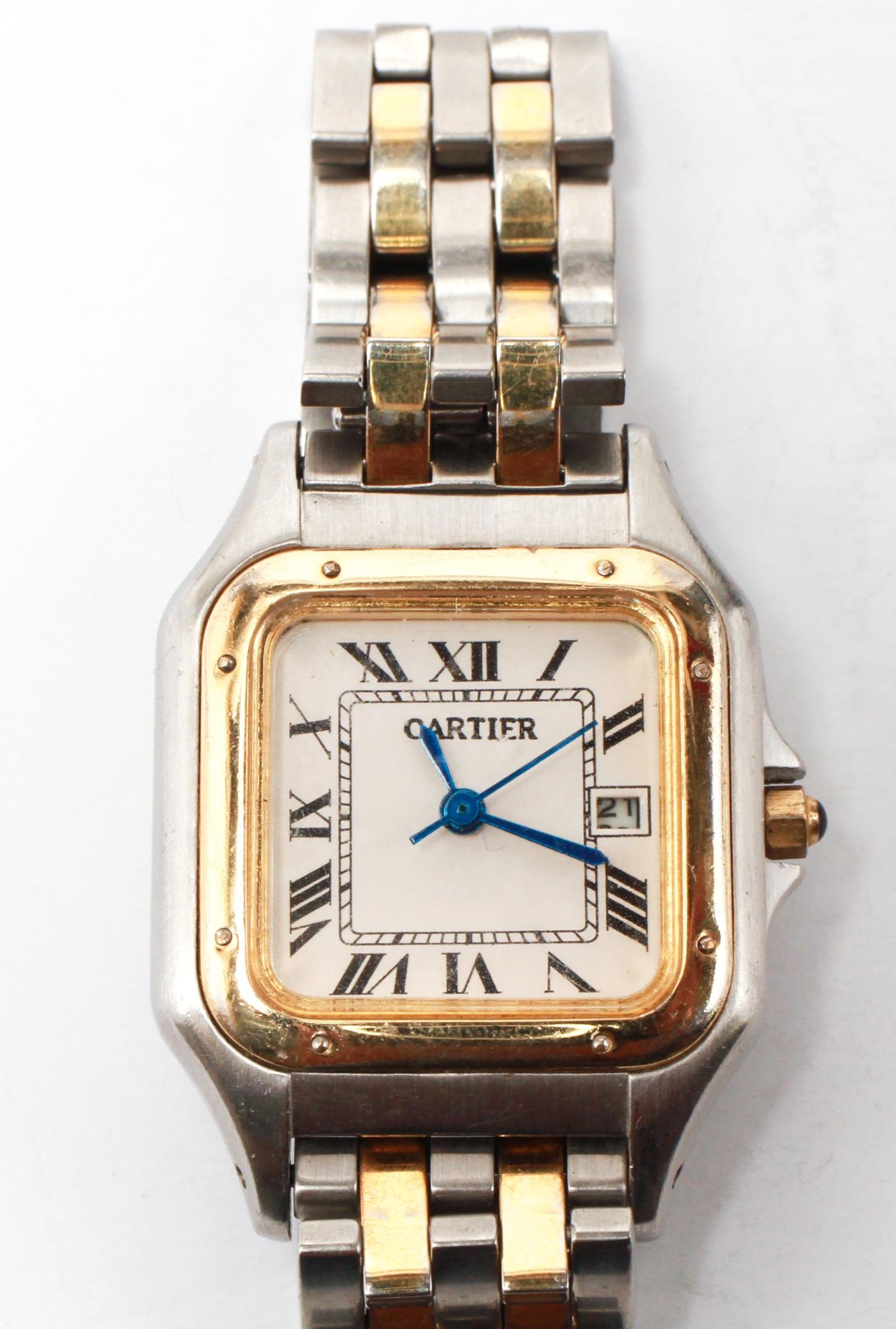 Cartier 2-Tone Gold-Plated & Stainless Steel Watch