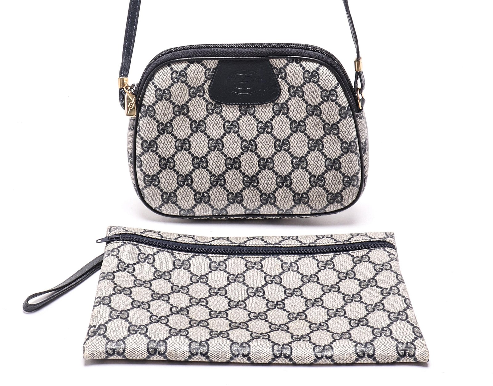 Gucci Monogram Canvas & Leather Handbags, 2