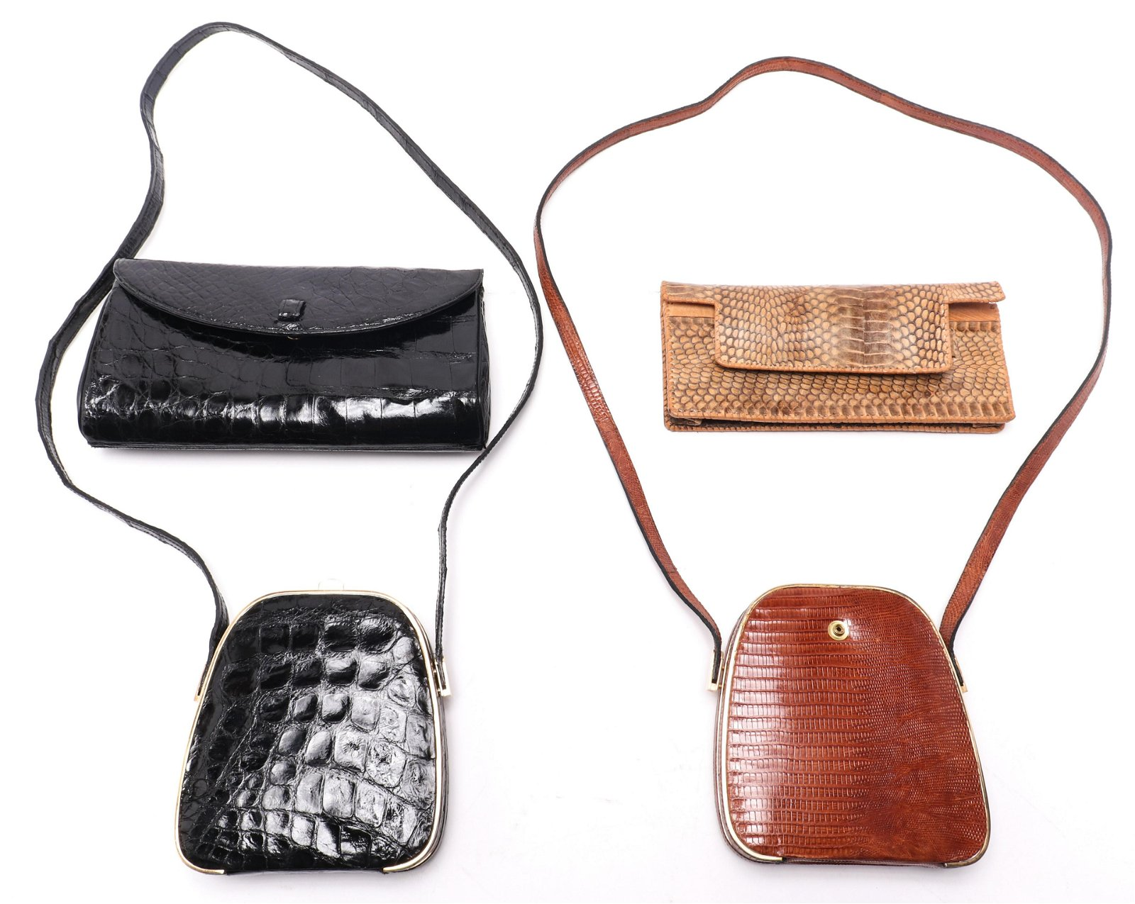 Reptile Leather Handbags incl. Mayer, Group of 4