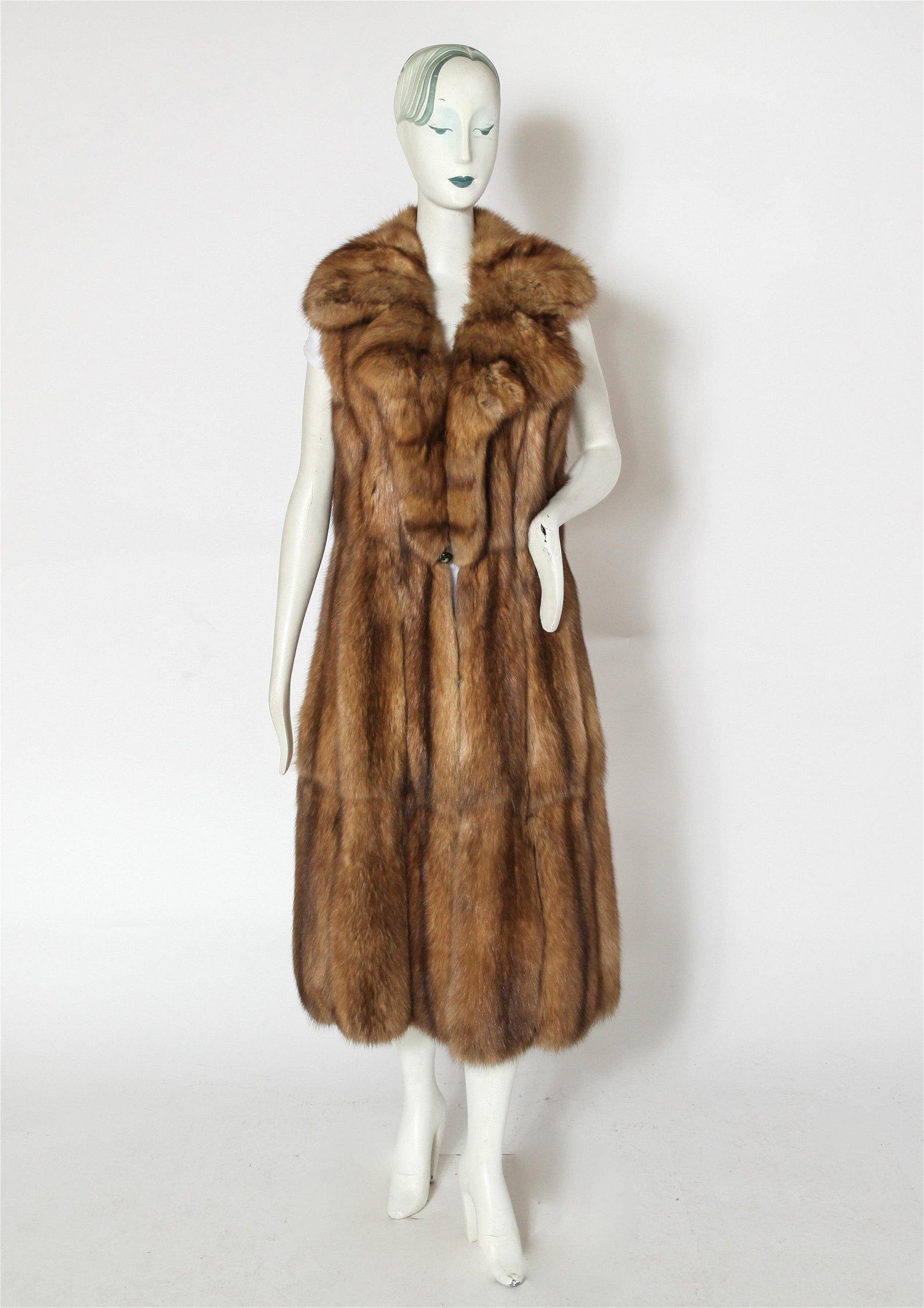 Full Length Fox Fur Vest