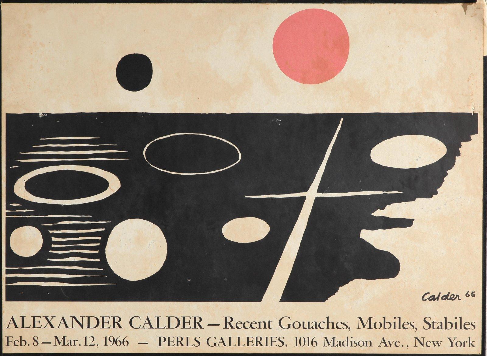Alexander Calder Perls Galleries Exhibition Poster