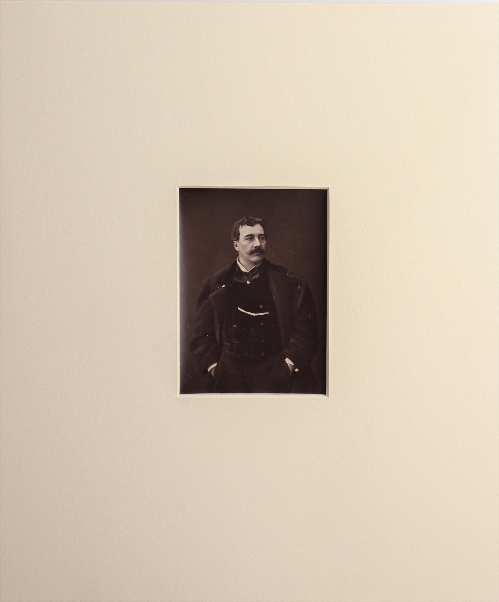 "Carjat ""Alfred Stevens"" Carbon Print Photograph"