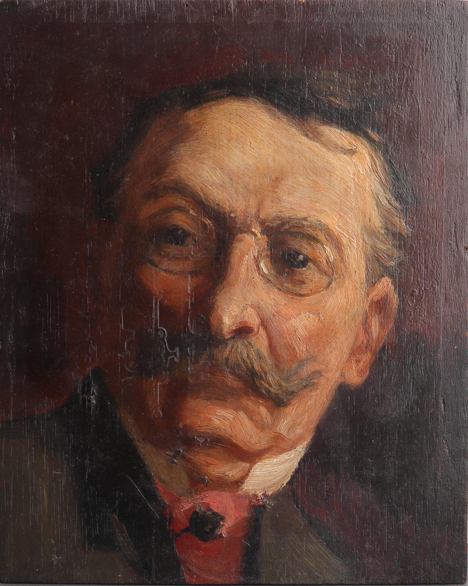 Portrait of a Gentleman Oil on Panel, Antique