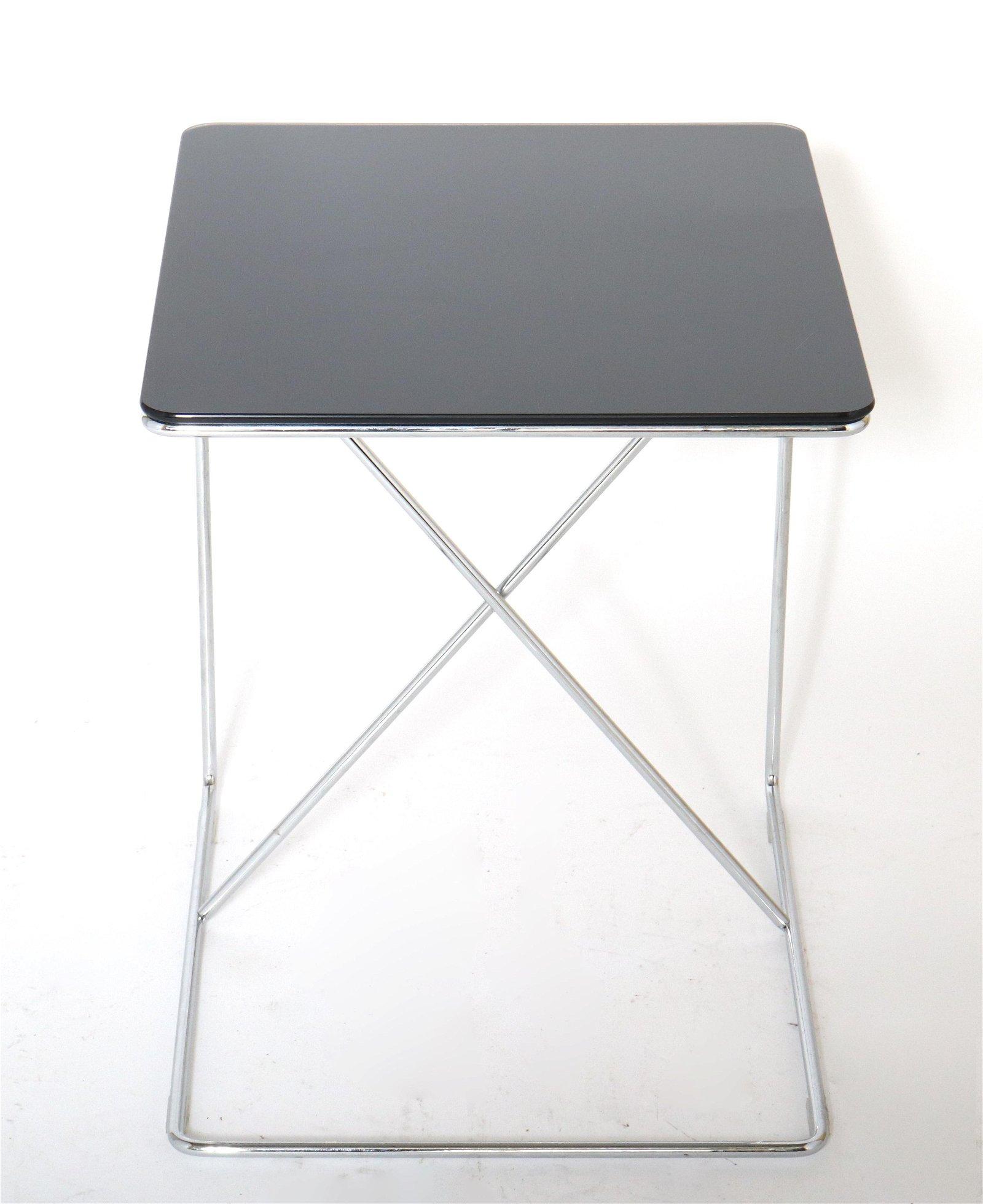 Modern Glass & Metal Side C-Table