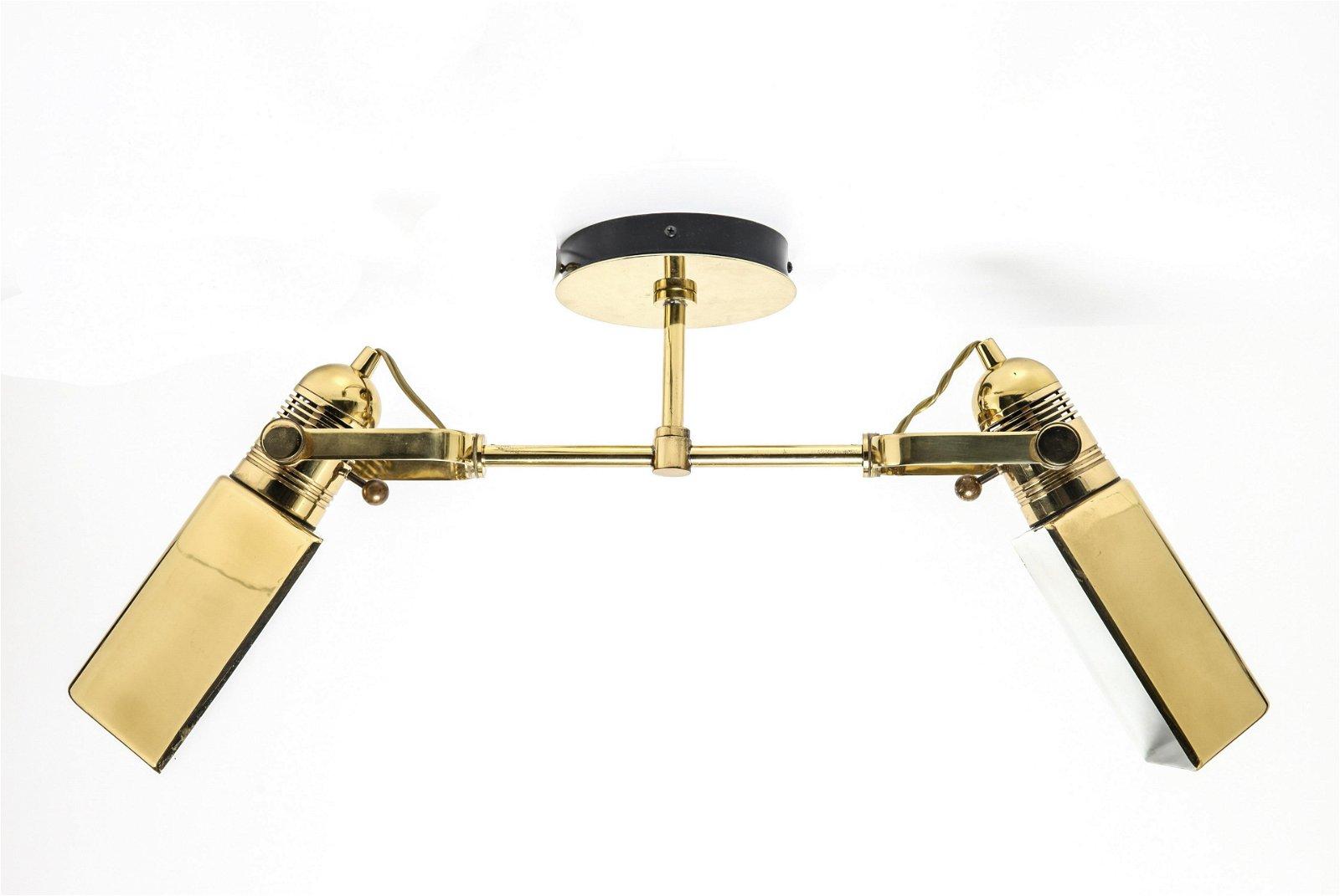 Modern Nessen Brass Two-Light Sconce