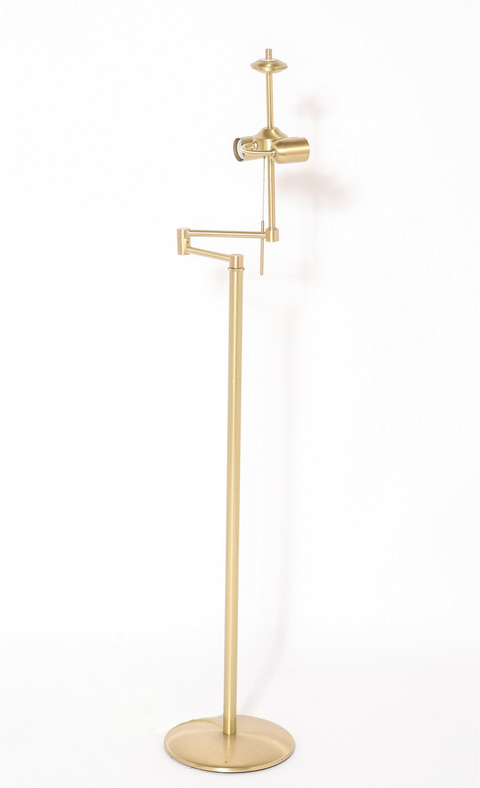 Holtkotter Brass Swing Arm Floor Lamp
