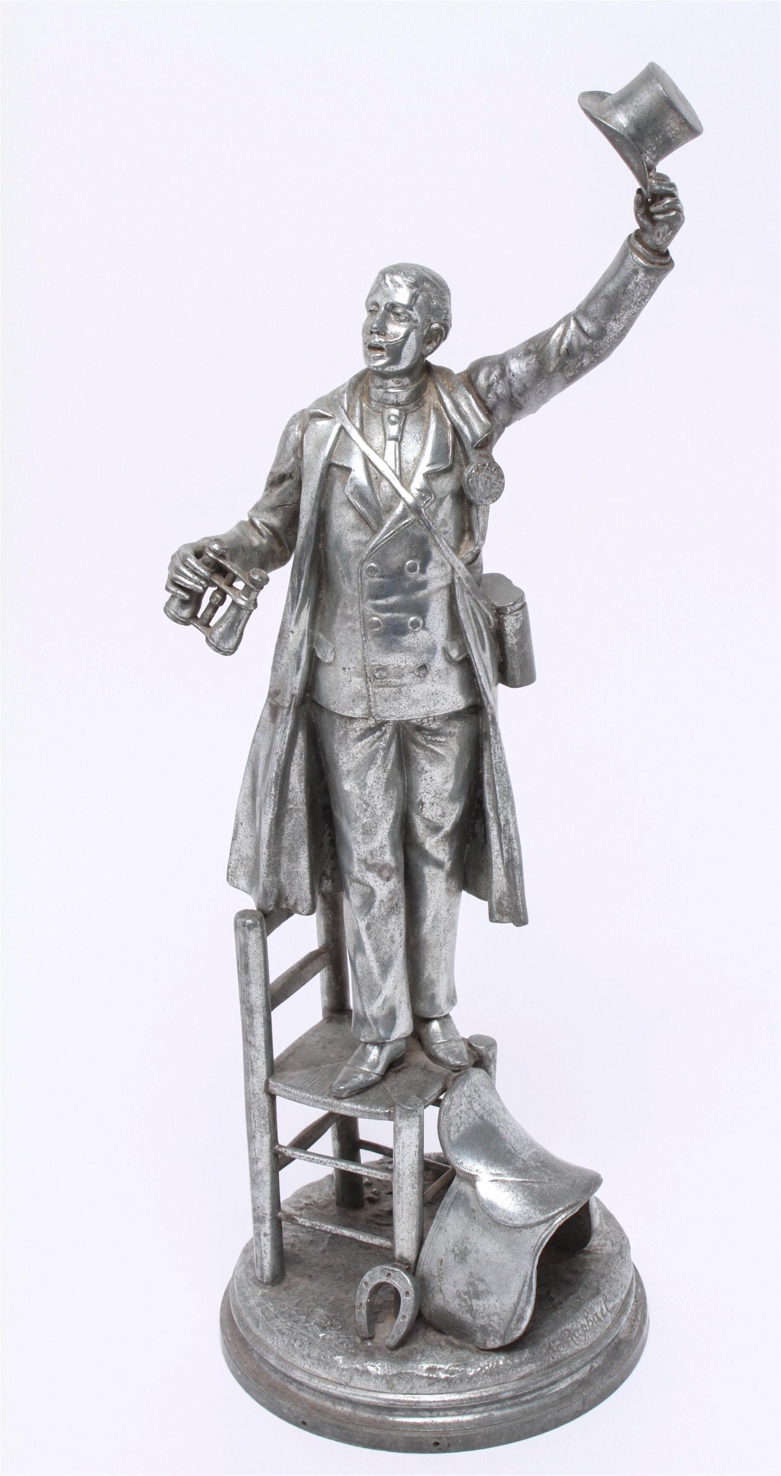 L. Raphael Cast Aluminum Sculpture of Gentleman
