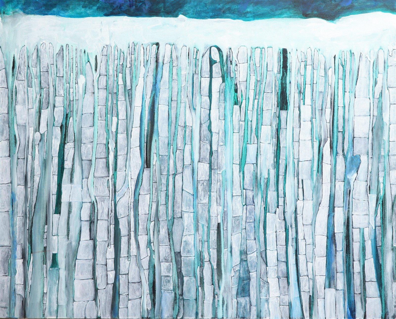 Marilyn Curtain Abstract Oil on Canvas
