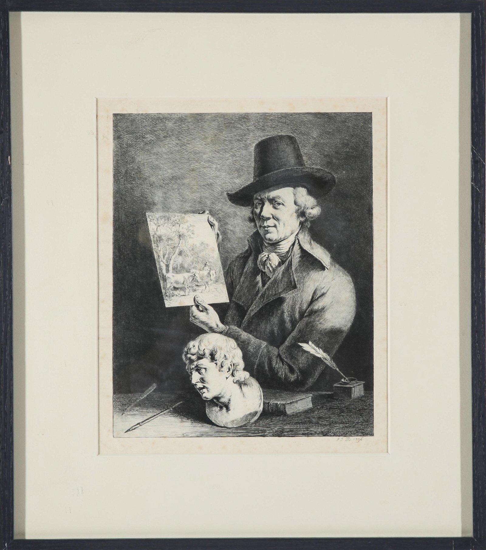 Jean-Jacques de Boissieu Self Portrait Etching