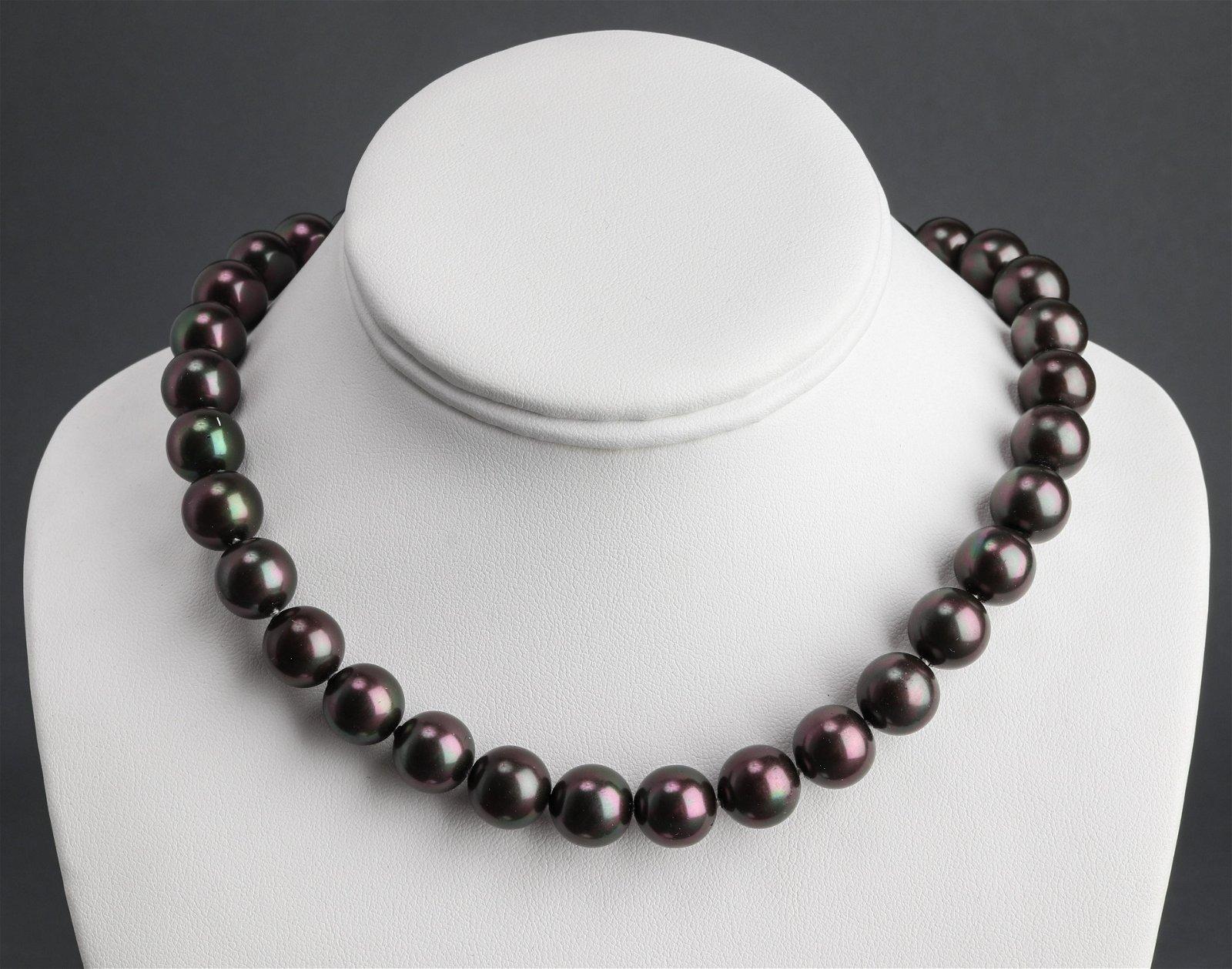 Judith Ripka Silver Pearl & Tourmaline Necklace