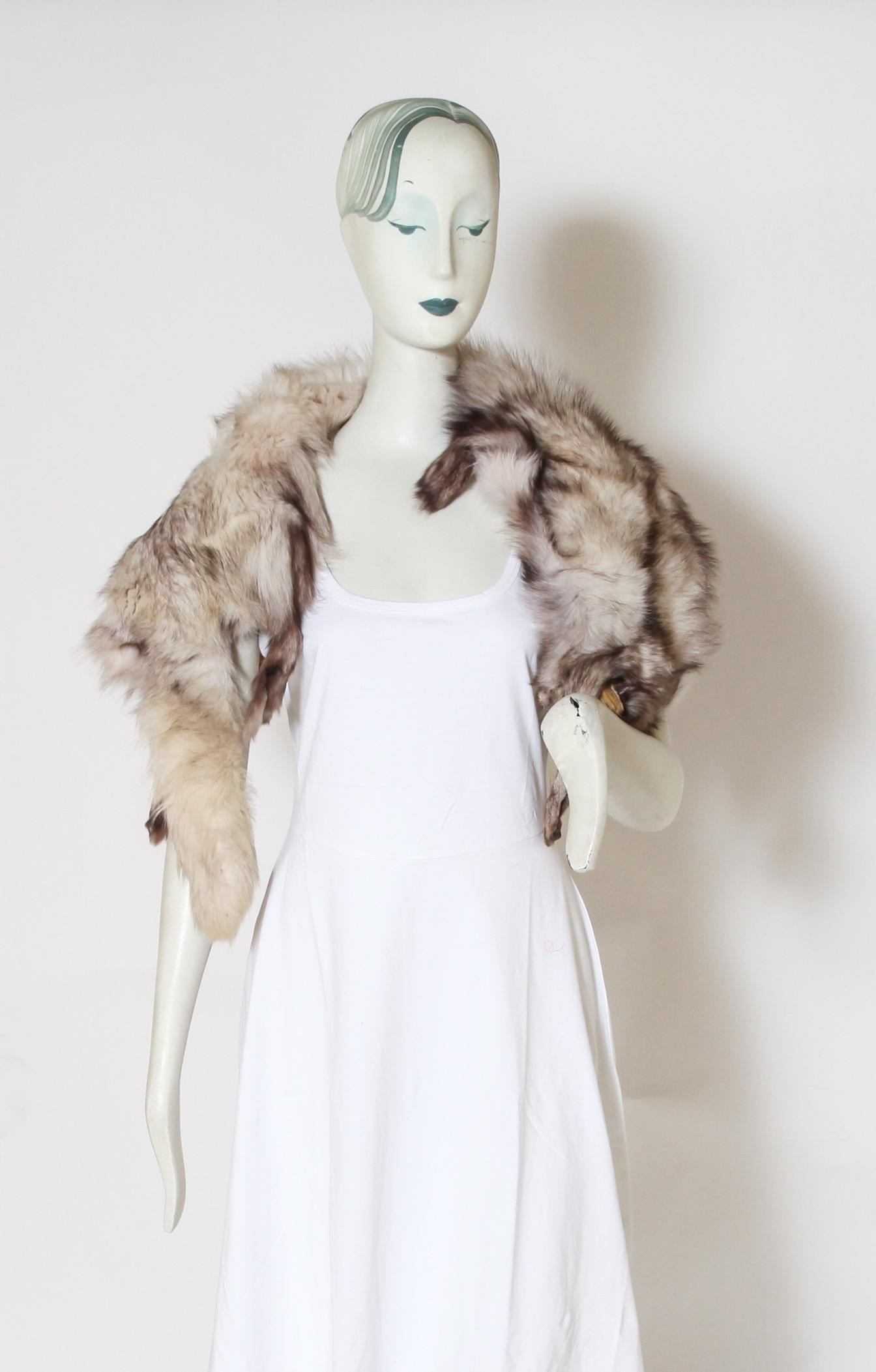 Silver Fox Taxidermy Fur Pelt /Stole