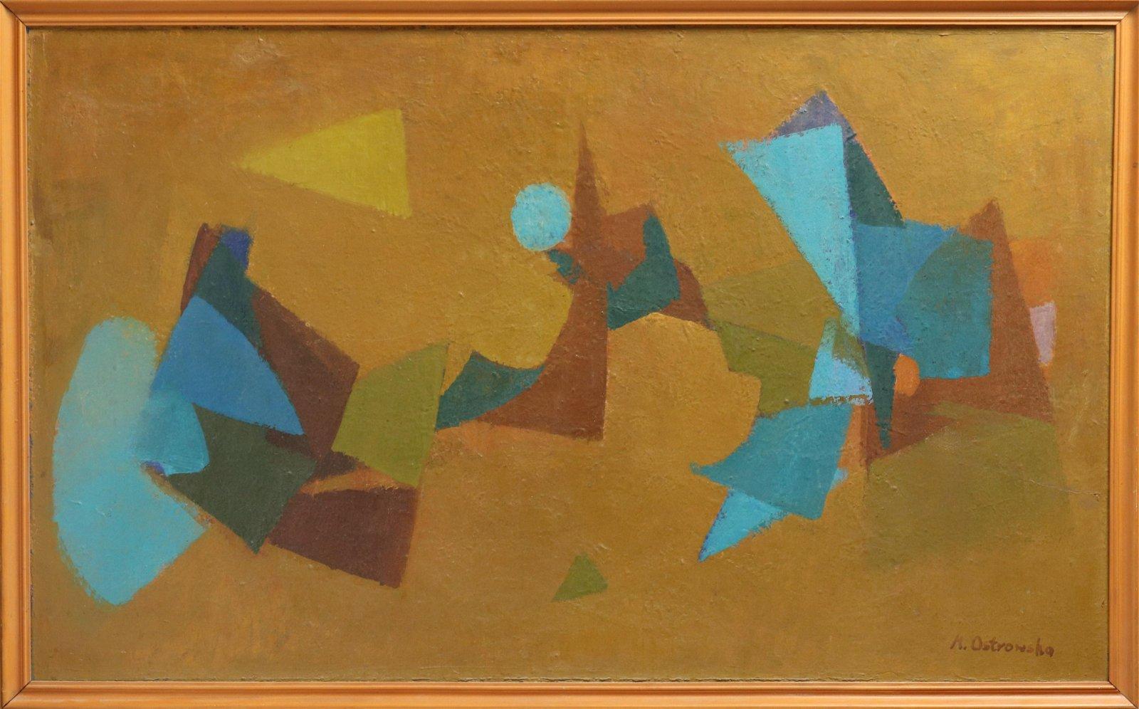 M. Ostrowska Abstract Geometric Tempera on Board