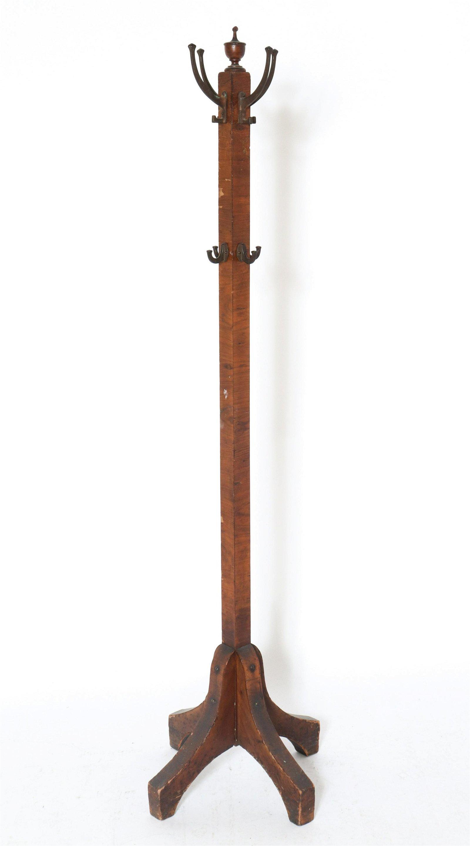 Traditional Wood Hallway Standing Coat Tree