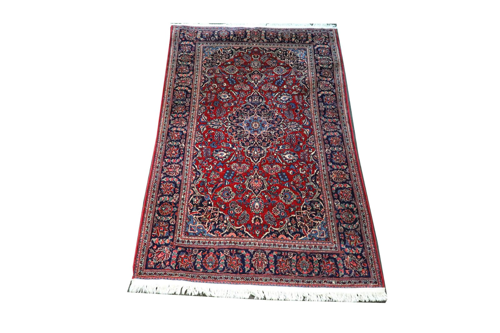 "Persian Floral Rug 4' 2.5"" x 6' 9.5"""