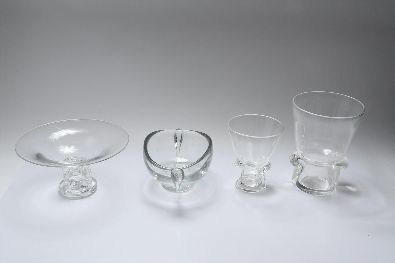 Steuben and Kosta Crystal Vessels, 4