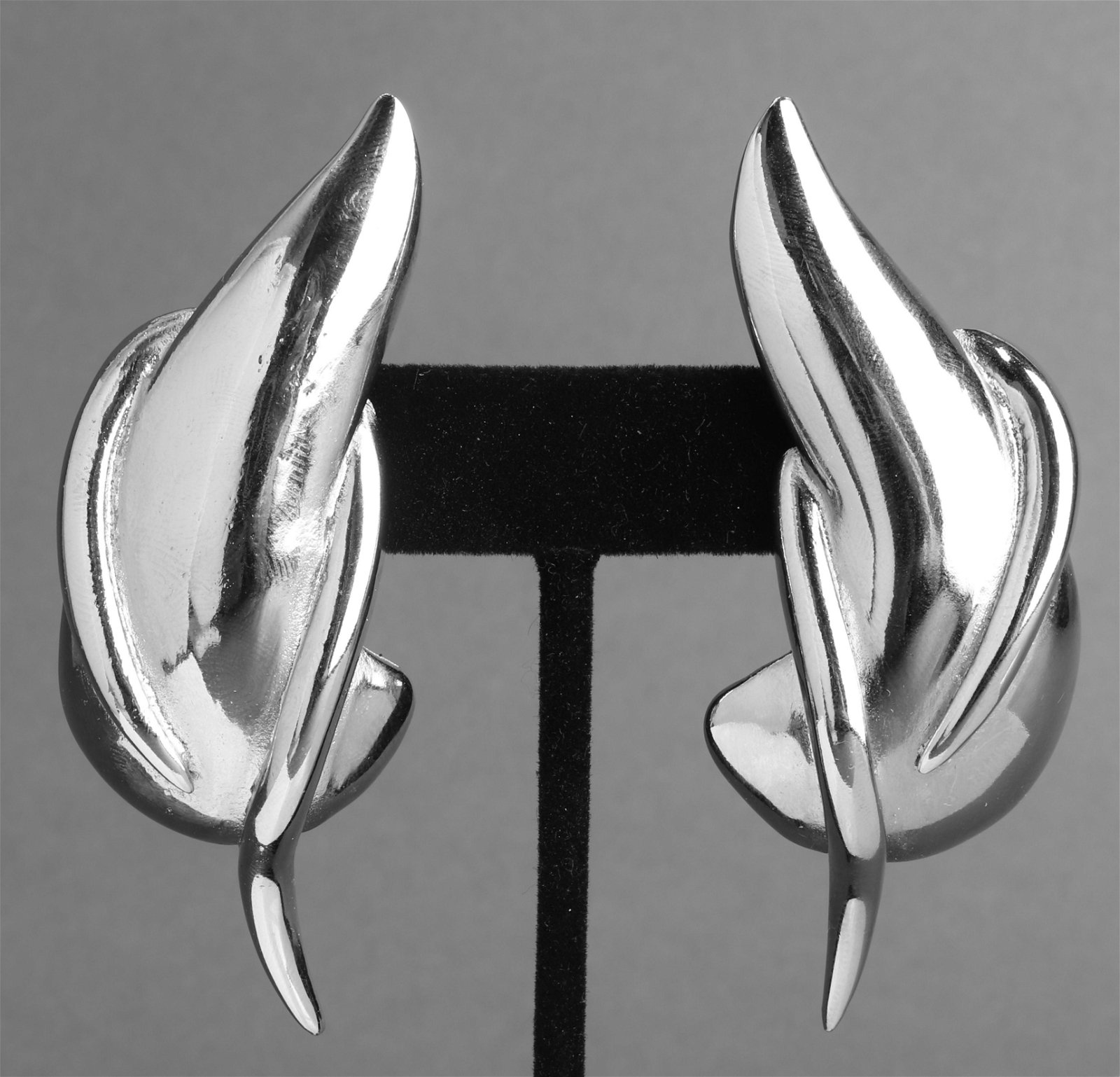 Gianni Versace Abstract Silver-Tone Earrings