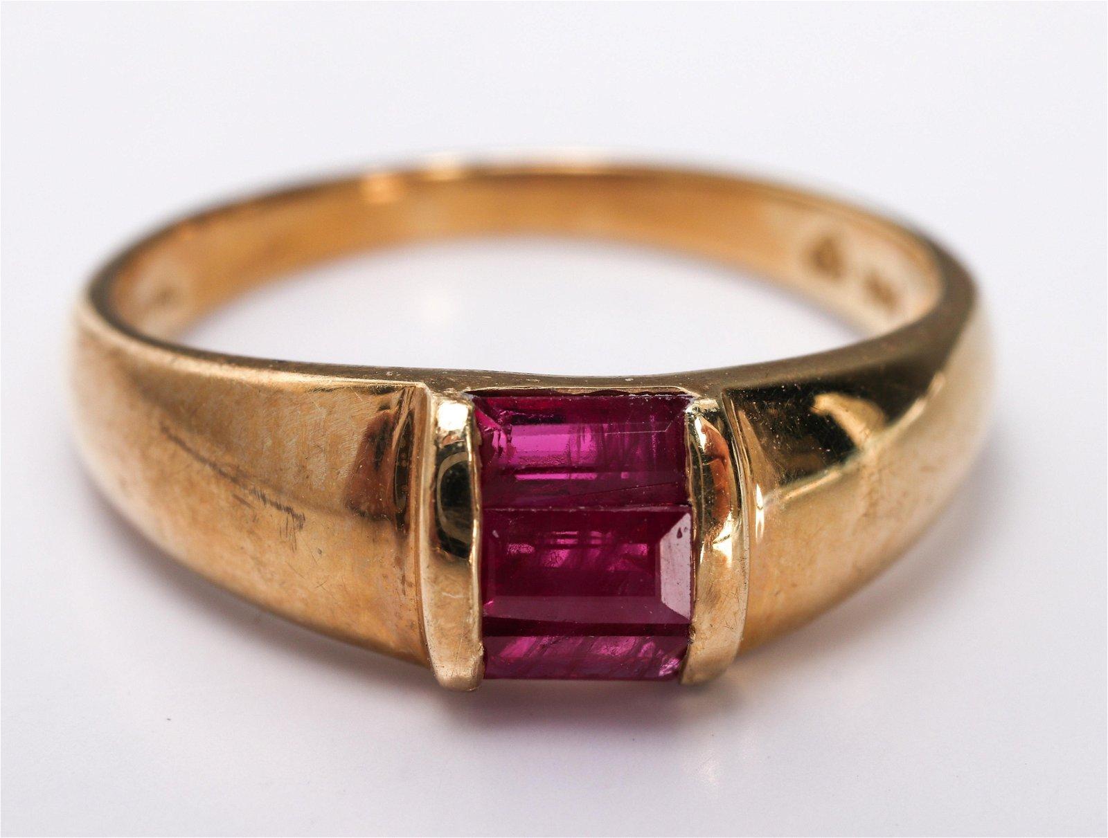 14K Yellow Gold & Ruby Ring