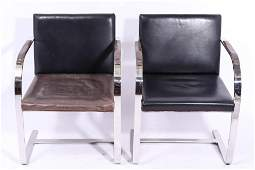 """Mies van der Rohe for Knoll """"Brno"""" Chairs, Pair"""