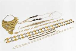 Vintage Gold & Silver-Tone Costume Jewelry, 8 Pcs.