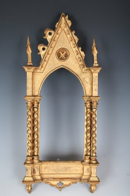 1012: 19th C Italian Gothic Revival Gilt Wood Frame