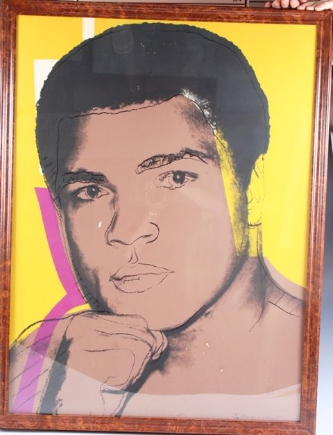 1187: Andy Warhol Signed Silk Screen Muhammed Ali
