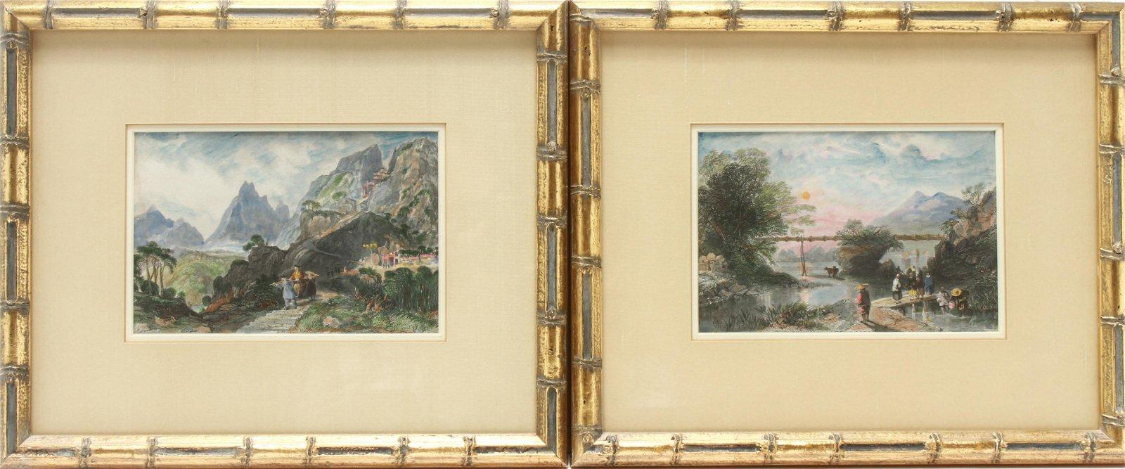 """Thomas Allom """"China"""" 19th C. Colored Engravings, 2"""