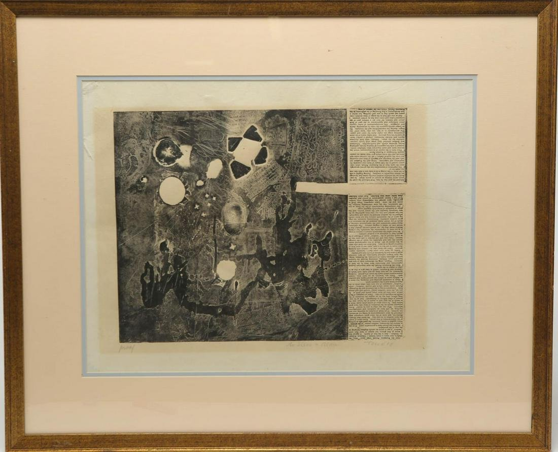 Signed Tusan- Etching on Paper, Mid-Century School