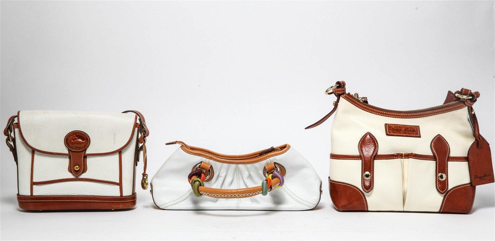 Designer White Leather Handbags, 3