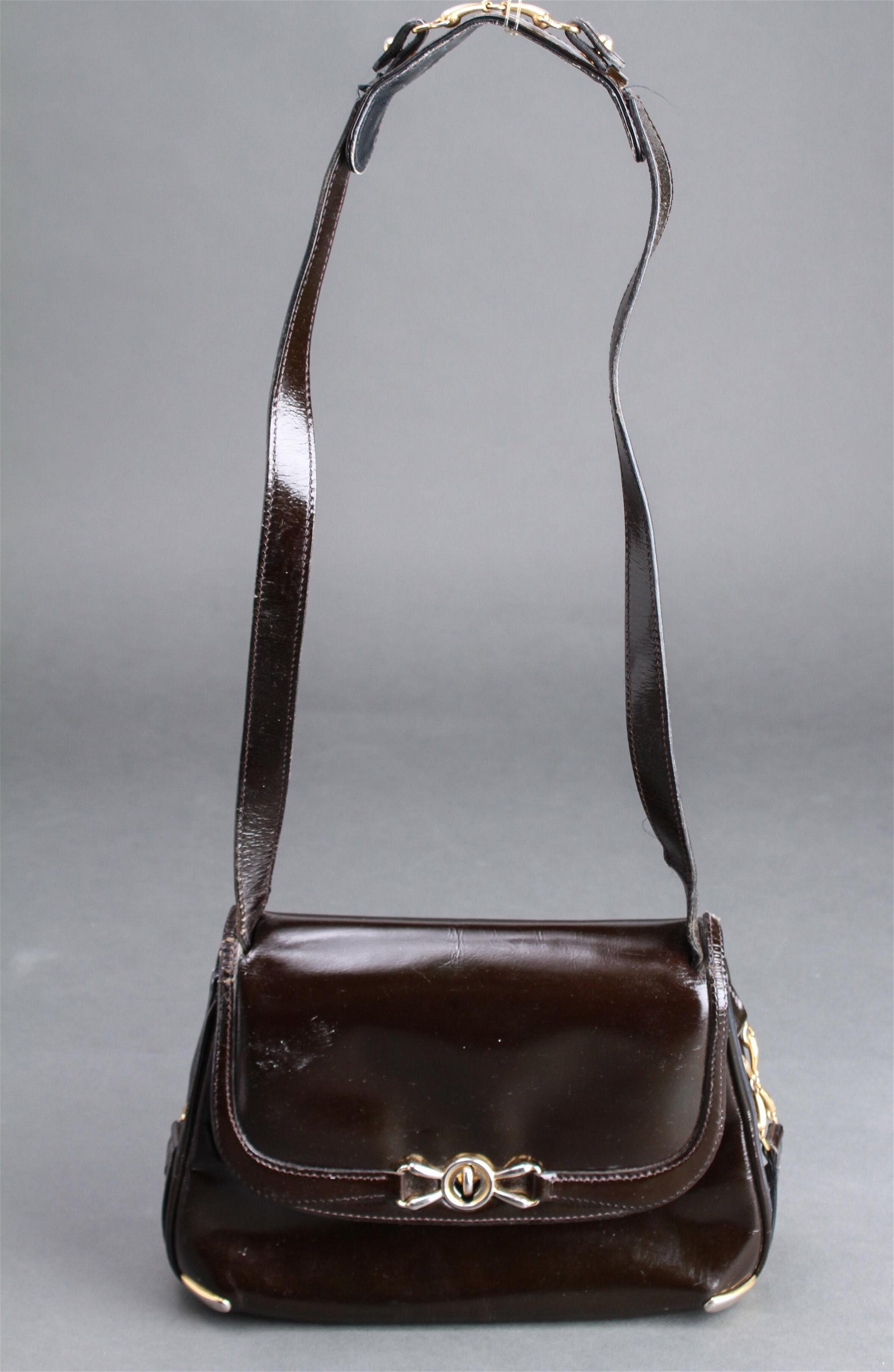 Gucci Vintage Black Leather Purse