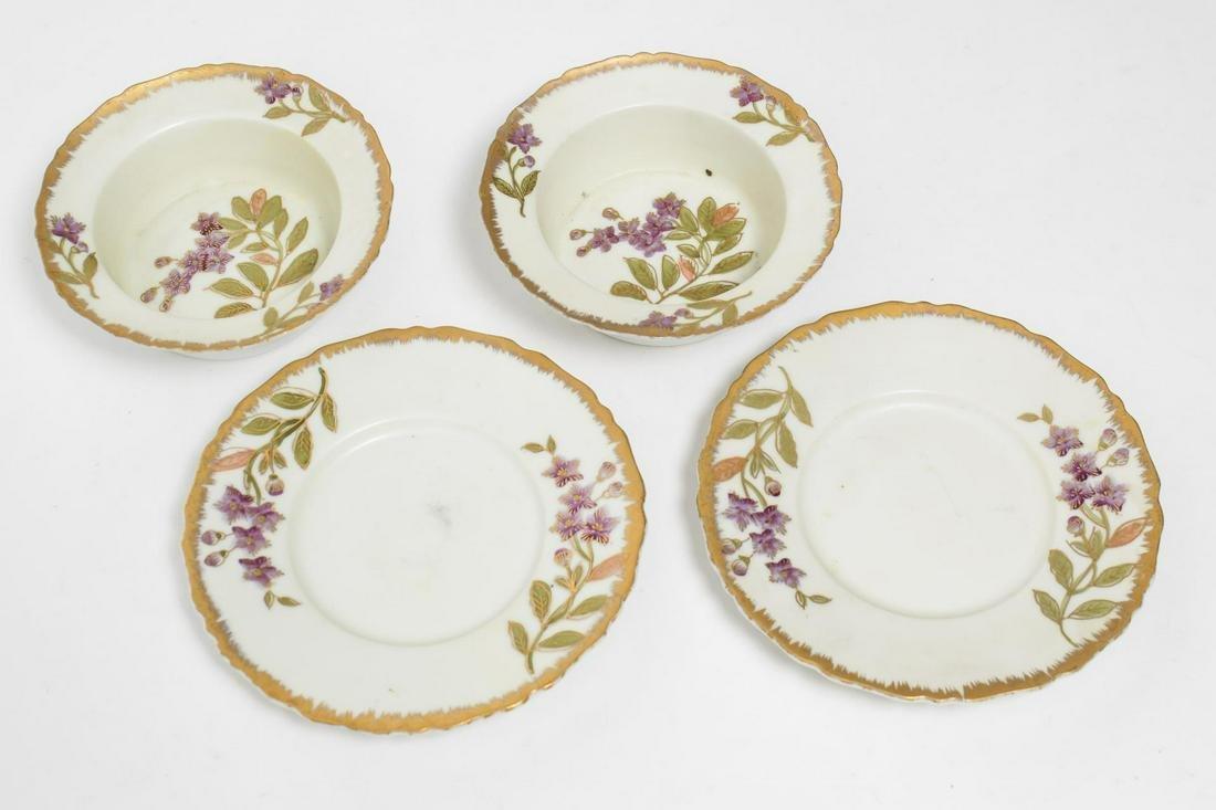 Samson Porcelain Sherbet Bowls & Saucers, 4