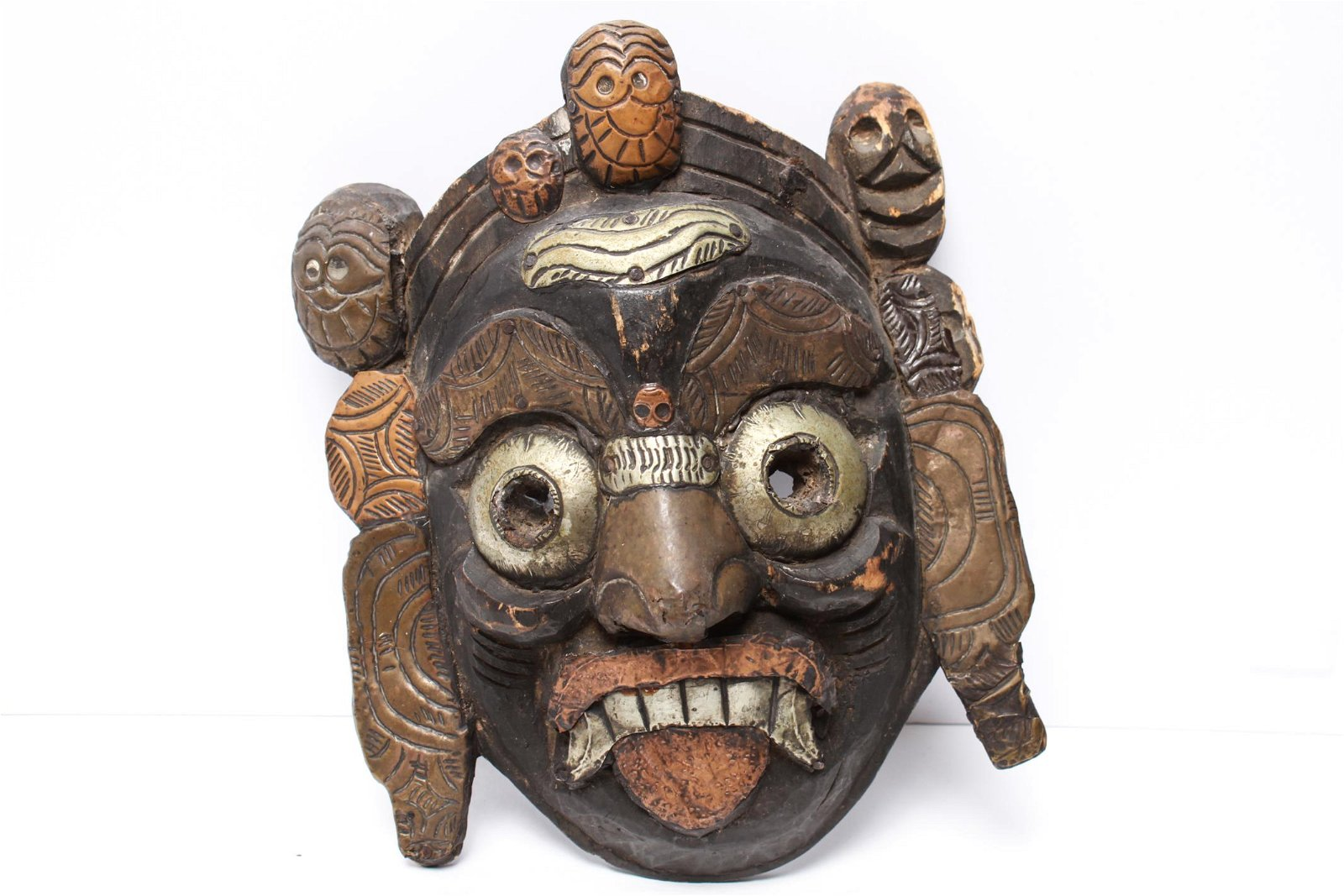 Indonesian Carved Wooden Mask