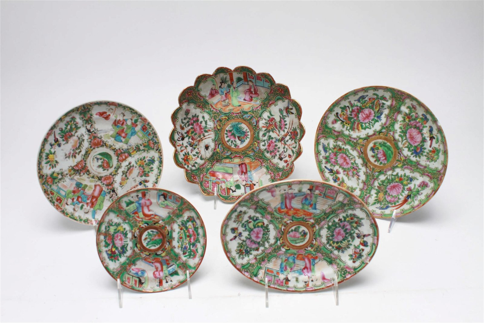 Chinese Famille Rose Plates, 5