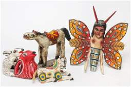 Mexican & South American Carved Wood Figures, 6