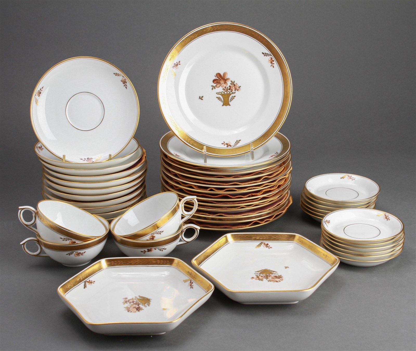 Royal Copenhagen Golden Basket Dessert Set, 40 pc