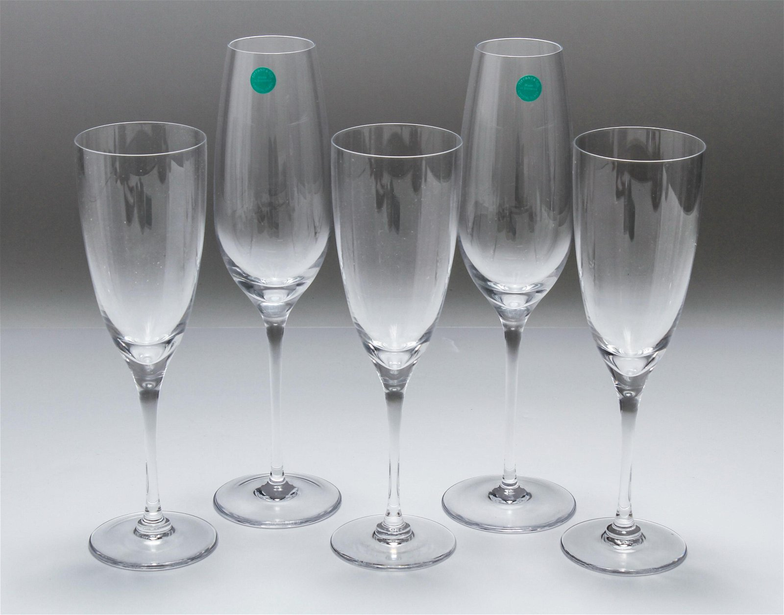 Tiffany & Co. & French Crystal Champage Flutes, 5