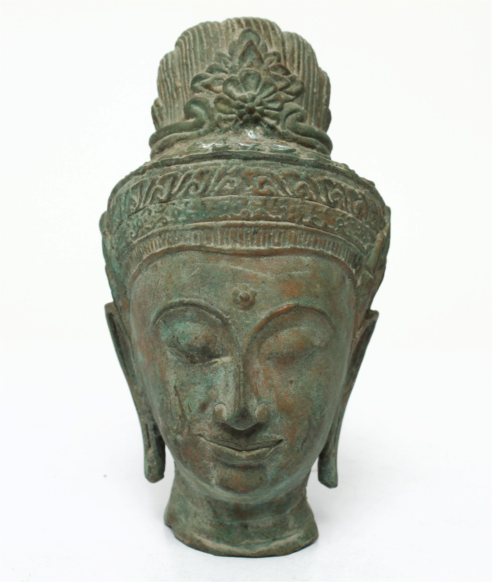 Southeast Asian Metal Bust Of Buddha