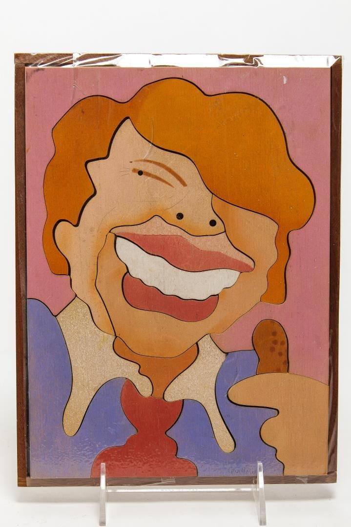 """Quillow """"Jimmy Carter"""" Wood Puzzle Portrait"""
