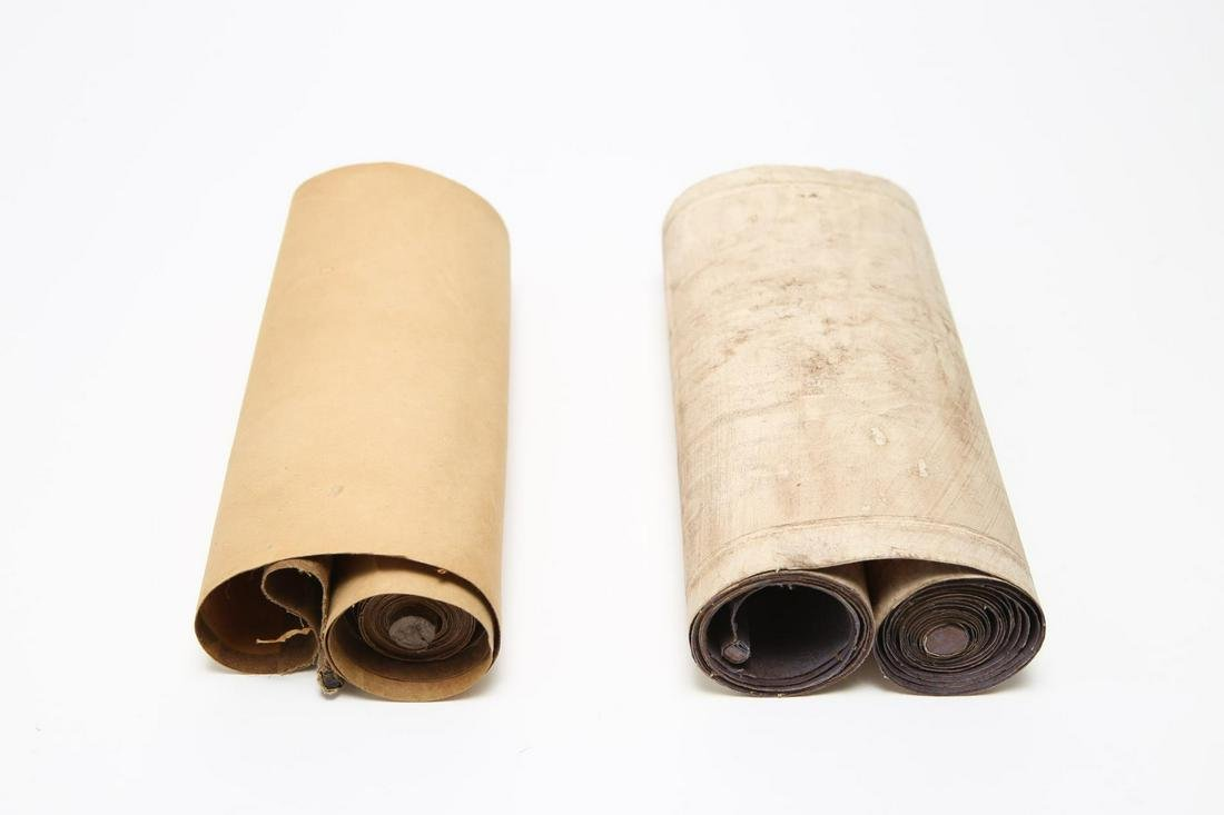 Chinese Printed Paper Hand Scrolls, 2