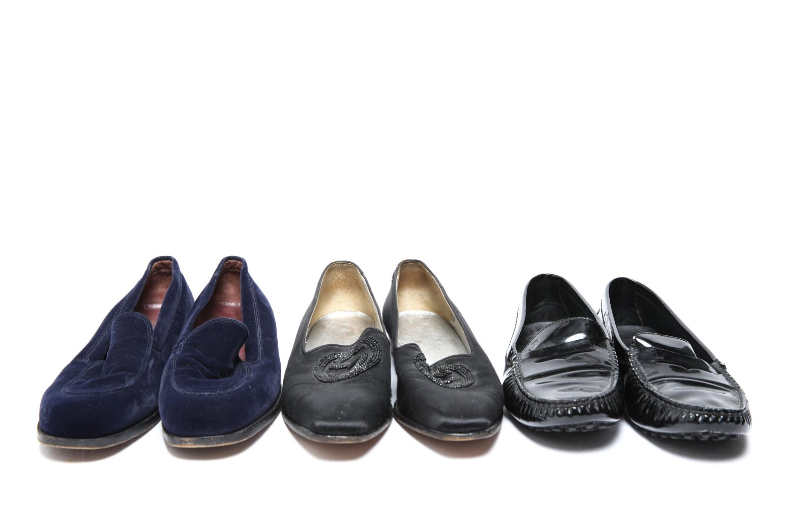 Ladies' Designer Loafers incl. Tod's & Gucci, 3 Pr