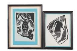 Inuit Framed Woodblock Prints, 2