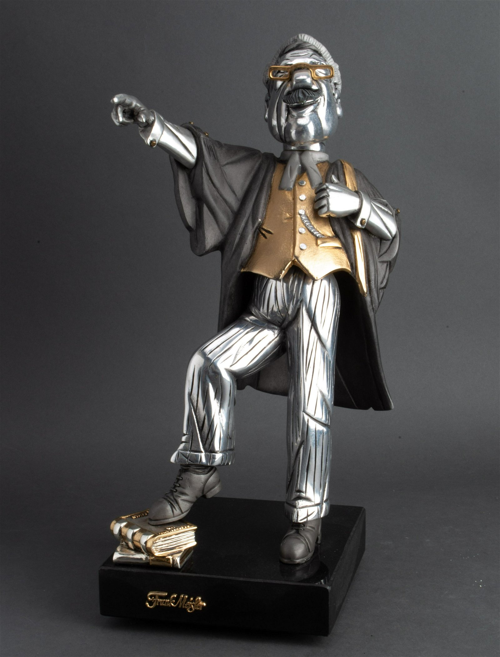 Frank Meisler Mixed Metal Statue of a Lawyer