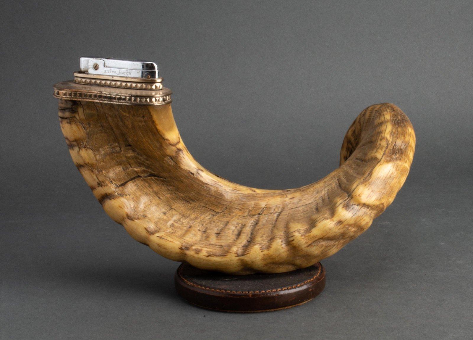 Gucci Vintage Horn & Leather Cigar Lighter