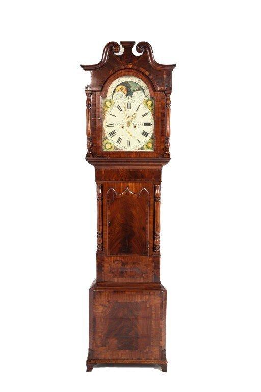 J. Stokes Victorian Longcase Clock, 19th C.